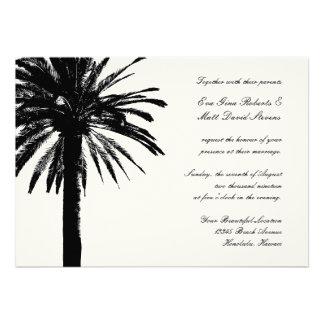 Hochzeitsbestimmungsorteinladungen mit Palme Individuelle Ankündigskarten