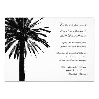 Hochzeitsbestimmungsorteinladungen mit Palme 12,7 X 17,8 Cm Einladungskarte