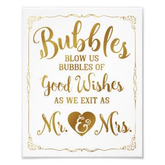 Hochzeitsblasenzeichen-Hochzeitsplakat, Photo