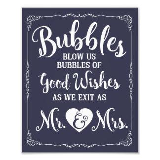 Hochzeitsblasenzeichen-Hochzeitsplakat Photo Druck