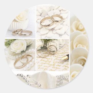 Hochzeitsdekoration Runder Aufkleber