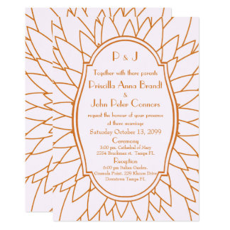 Hochzeitseinladung, großes gatsby, Dahlie Karte