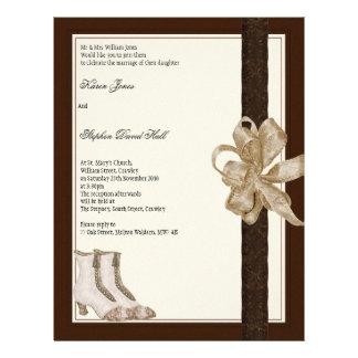 Hochzeitseinladungs-Flyer von Bräute Mutter u. 21,6 X 27,9 Cm Flyer
