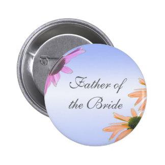 Hochzeitsgeschenk, Gänseblümchen-Blumen Runder Button 5,1 Cm