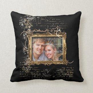 Hochzeitsjahrestags-Verlobungs-Foto Zierkissen