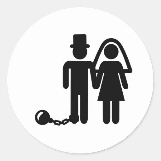 Hochzeitspaare Runder Sticker