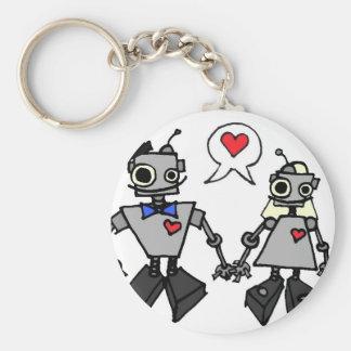 Hochzeitsroboter Standard Runder Schlüsselanhänger
