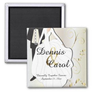 Hochzeitstag-Andenken für diesen speziellen Tag Quadratischer Magnet