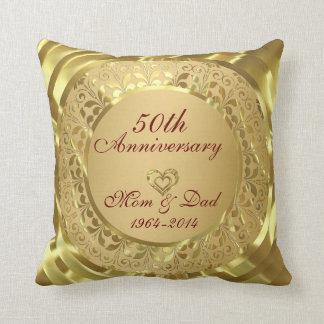Hochzeitstag des Funkelngold50. Zierkissen