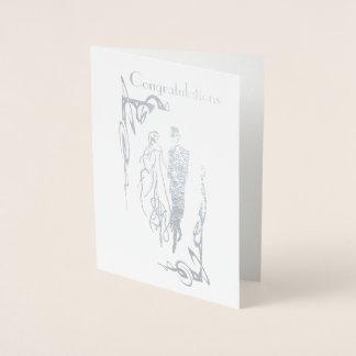 Hochzeitstag-Glückwunsch-Gruß-Karte Folienkarte