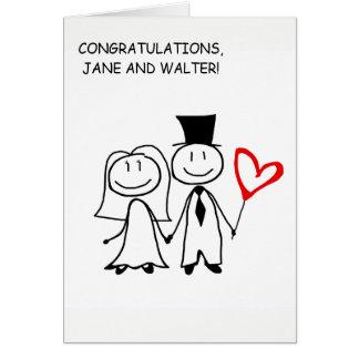 Hochzeitstag-Glückwunsch-kundenspezifische Karte