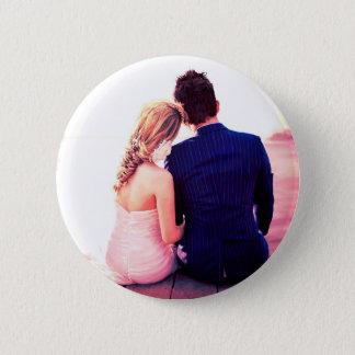 Hochzeitstag-Horizont Runder Button 5,7 Cm