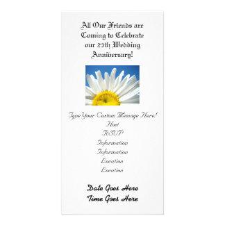 Hochzeitstag Party Einladungs-weißes Gänseblümche