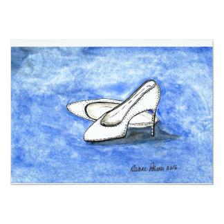 Hochzeitstag-Schuhe 12,7 X 17,8 Cm Einladungskarte