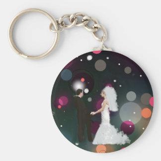 Hochzeitstag Standard Runder Schlüsselanhänger
