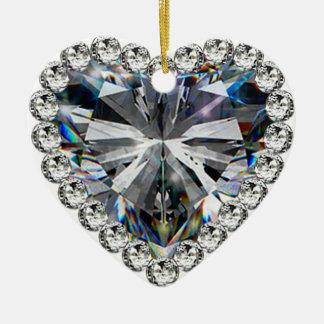Hochzeitstag-Verzierung des Diamant-Herz-60. Keramik Herz-Ornament