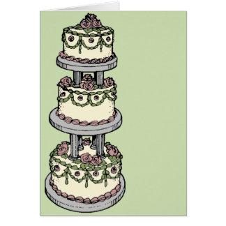 Hochzeitstorte II - Kundengerechte Farbe! Karte