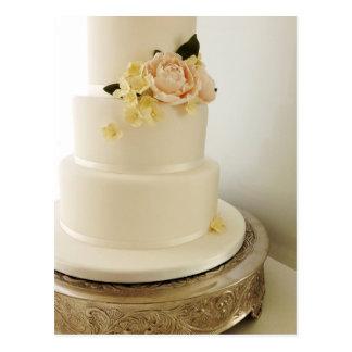 Hochzeitstorte mit Zucker-Blume Kaskade Postkarte