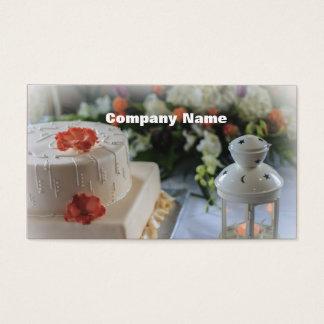 Hochzeitstorte und Laterne Visitenkarte