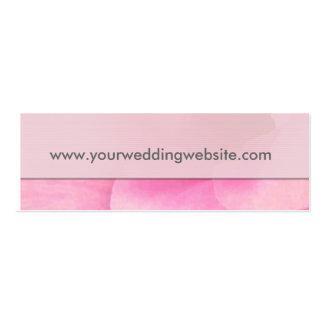 Hochzeitswebsitegeschenk-Umbaukarten Visitenkartenvorlagen