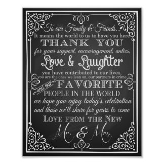 Hochzeitszeichen danken Ihnen von neuem Herrn u. Poster