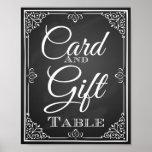 Hochzeitszeichenkarte und Geschenktabelle Plakat