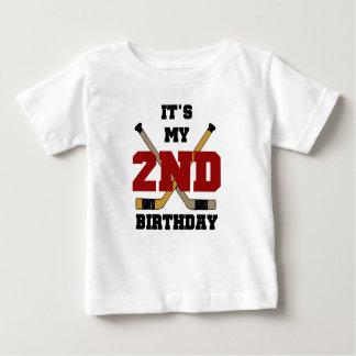 Hockey-2. Geburtstag Baby T-shirt