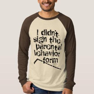 Hockey-elterliche Verhalten-Form T-Shirt