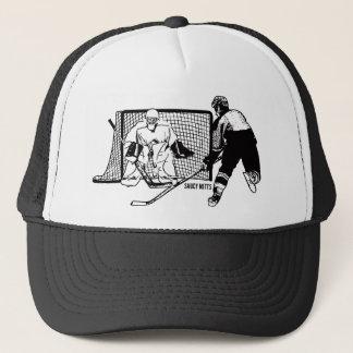 Hockey geschossen auf Netz Truckerkappe