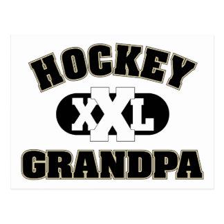 Hockey-Großvater Postkarte