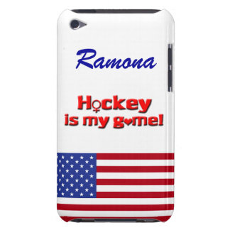 Hockey ist mein Spiel! - US-Flagge/personifizieren Barely There iPod Case
