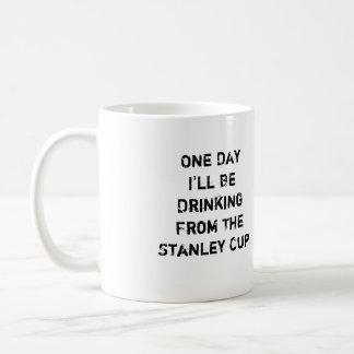 """Hockey-Kaffee-Tasse - """"ein Tag werde ich trinken… Kaffeetasse"""