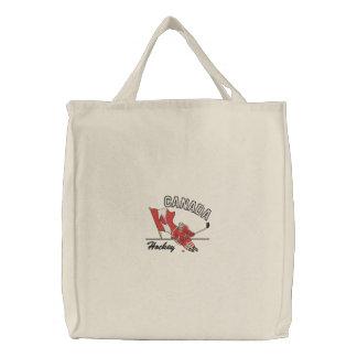 Hockey-Kanada-Taschen-Tasche Bestickte Tragetasche