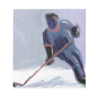 Hockey-Kerbe-Kunst Notizblock