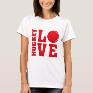 Hockey-Liebe, Feld-Hockey-T - Shirt
