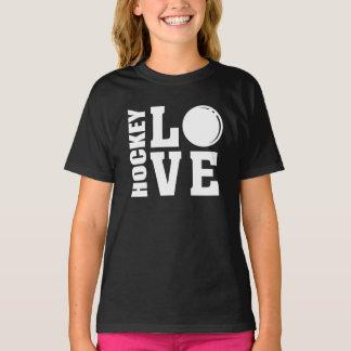 Hockey-Liebe-Feld-Hockey T-Shirt