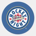 Hockey-Nacht in Kanada-Logo Runder Aufkleber