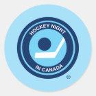 Hockey-Nacht in Retro Logo Kanadas Runder Aufkleber