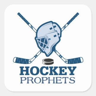 Hockey-Prophet-Aufkleber Quadratischer Aufkleber