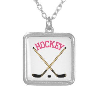 Hockey-Querstöcke Versilberte Kette