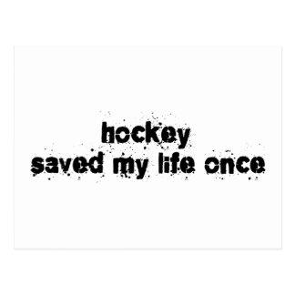 Hockey rettete mein Leben einmal Postkarte