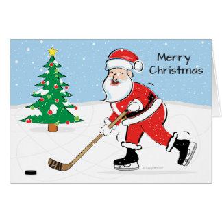 Hockey-Sankt-Weihnachten Karte