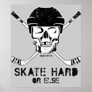 Hockey-Schädel Poster