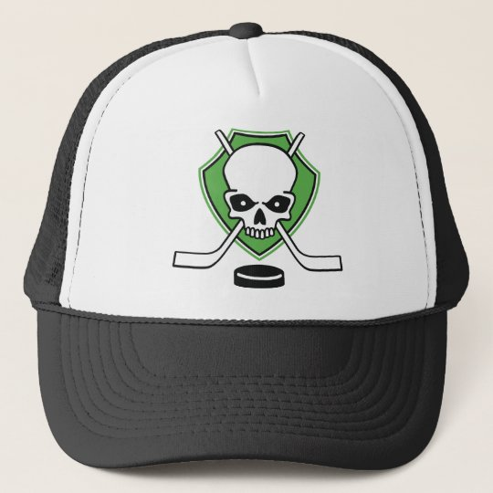 hockey skull truckerkappe