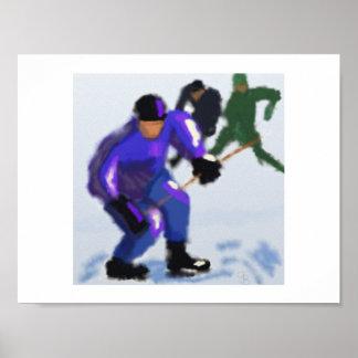 Hockey-Spiel-Kunst Poster
