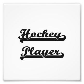 Hockey-Spieler-klassischer Job-Entwurf Kunstfotos