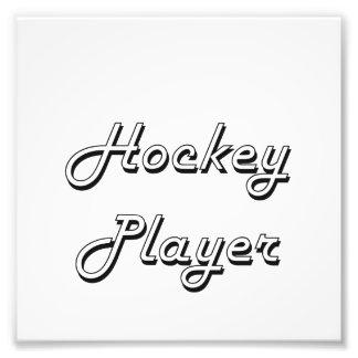 Hockey-Spieler-klassischer Job-Entwurf Photo Druck