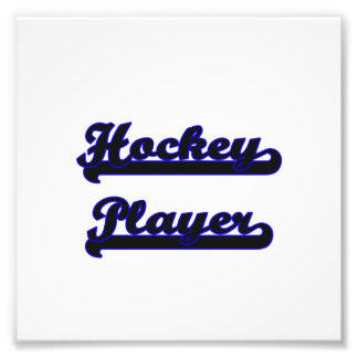 Hockey-Spieler-klassischer Job-Entwurf Kunstphotos
