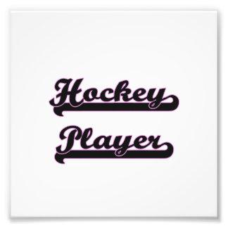 Hockey-Spieler-klassischer Job-Entwurf Kunst Fotos