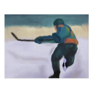 Hockey-Spieler, Postkarte